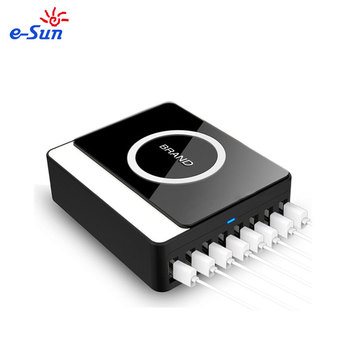 E-sun wholesale Qi wireless charger wireless multi 8 port charger hub travel power adapter 5v 1A