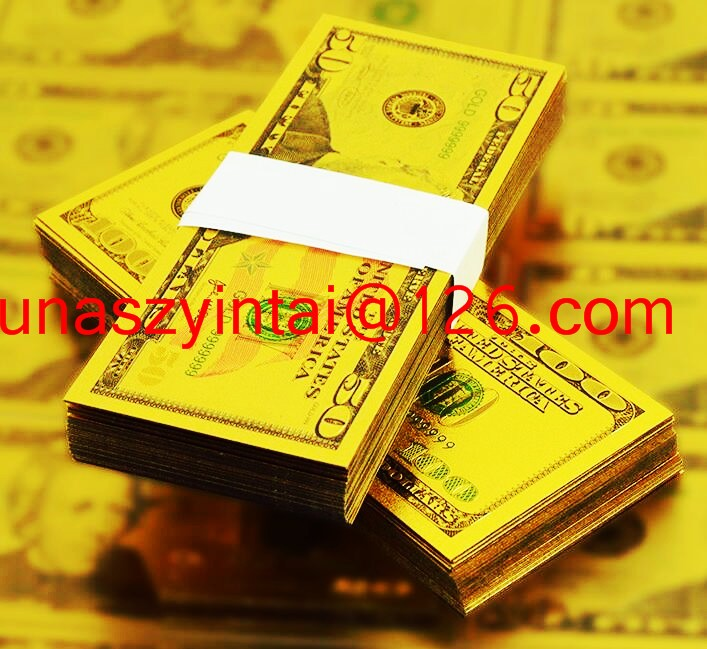 9999 Pure Gold American Paper Money