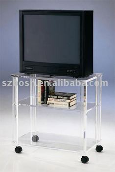 Acrylic TV Stand with Castors,Acrylic TV Stand,Acrylic Furniture