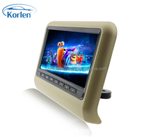 "removable 9"" headrest DVD HD monitor with USB/SD/IR/FM/Speaker/game"