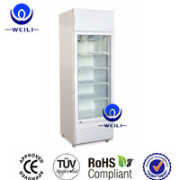 Supermarket Glass Door Refrigerator Freezer Upright
