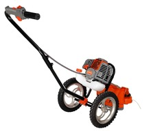 Gas Powered, walk behind string trimmer, Wheeled brush cutter ,52cc, 2 stroke, single cylinder