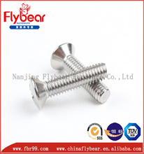 popular A2-70 M16 DIN 966 cross drive raised countersunk head screws for Sports Equipment
