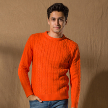 Hot Selling Men Knitted Unique Used Clothing Wool Sweater For Sale