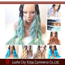 Ombre Two tone Colored Japanese Fibre Jumbo Braid Hair, Best Selling 100gram Ultra Braiding Hair