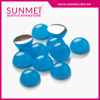SUNMEI Free Sample Water Blue Accessories Acrylic Flat Shoes Stone