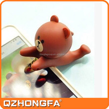 LINE Chat Expression Cute Beer Phone Desk Stand