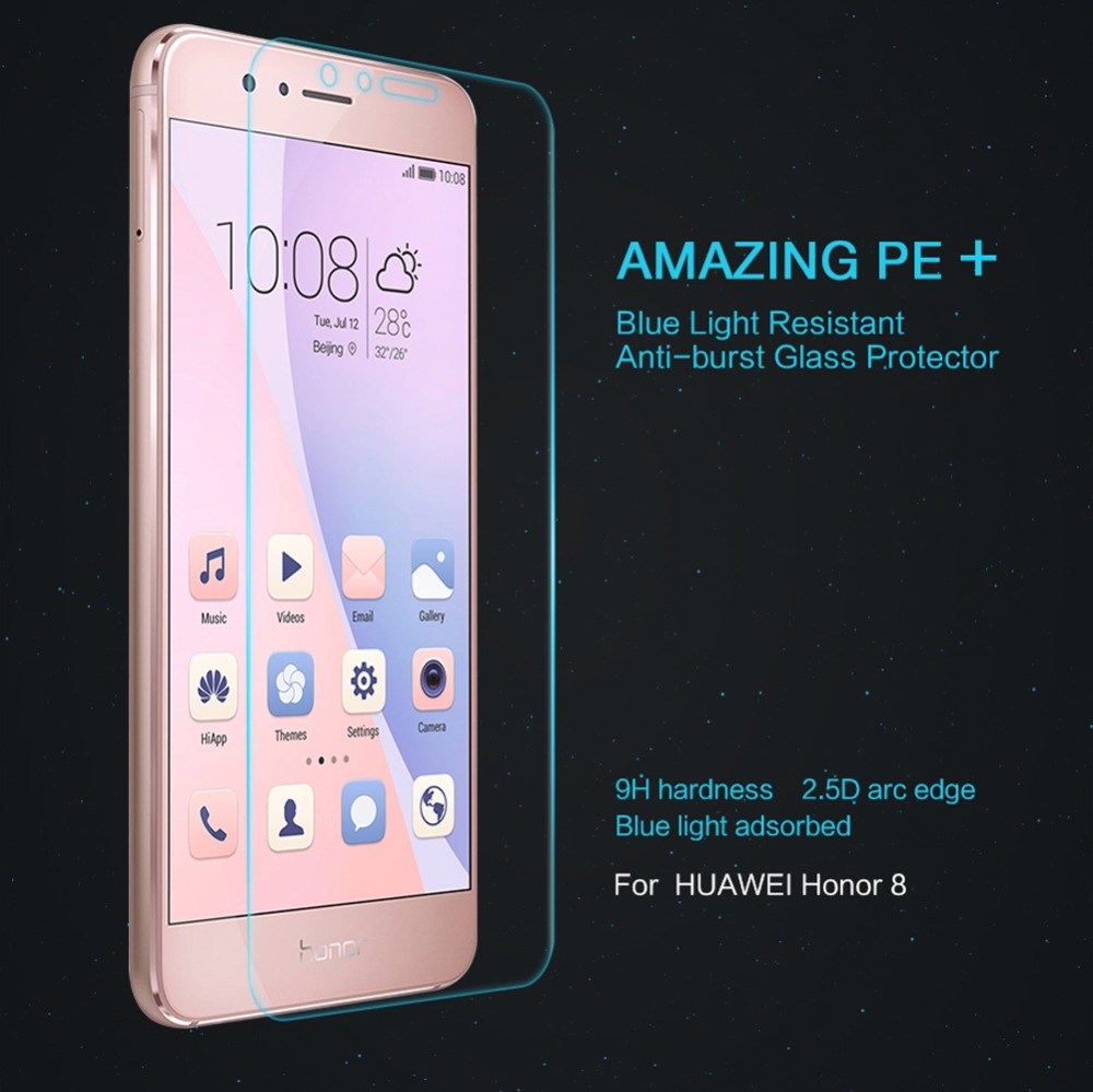 Knife proof Water and Oil proof Tempered Glass Screen Protector film Cover for Huawei honor 8