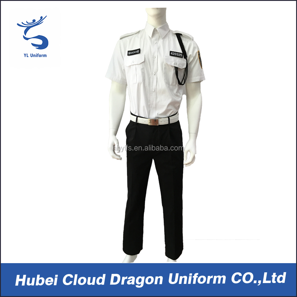 Best security uniform shirts china supply hotel security guard clothing