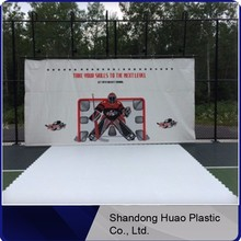 Customized ice skating rink / synthetic ice skating rink for hocky / inflatable ice skating rink