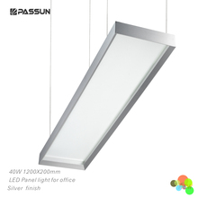 40W 1200x200 SMD super brightness commercial LED panel pendant light with aluminium color black colour white color
