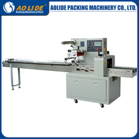 Full Stainless automatic film sealing wrapping big wafer biscuit packaging machines