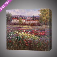 Nice impressionist outdoor scenery bedroom oil painting on canvas from Shenzhen Dafen