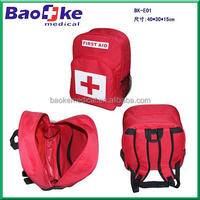 Waterproof nylon cloth First Aid Kit Backpack survive kit bags for earthquake outdoor