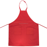 Wholesale high quality custom size and color kitchen accessories adjustable cooking cotton aprons