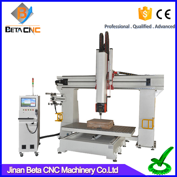 5 axis cnc router machinery cutting carving machines,milling engraving wood furniture equipment