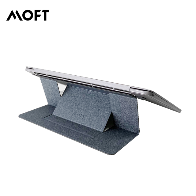 MOFT Portable Laptop Stand with Patent Space Grey Adhesive Invisible and Fold-able Table for Macbook Thin Laptop Desk