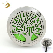 Wholesale Tree Of Life Car Air Freshener 316L Stainless Steel Locket Vent Diffuser Car Perfume