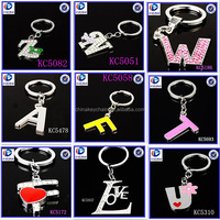 New Design Many kinds of beautiful letter Different shapes Metal keychains