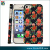 Red Rose Decal water transfer print hard plastic case for iphone 5
