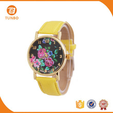 Lady leather wrist watch with many colors