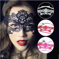 New Female Elegant Sexy 3D Party Half Mask Lace Face mask
