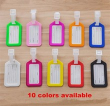 Wholesale travel boarding blank plastic PP vinyl luggage tag