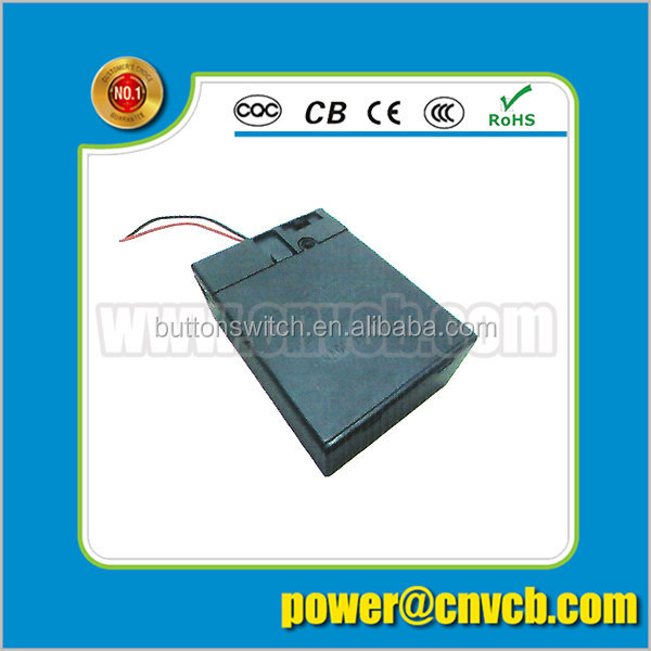 Wenzhou supplier 2xC size battery holder with cover (on-off) switch