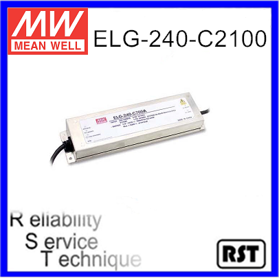 ELG-240-C2100 Constant Current Mode LED Driver Taiwan Mean Well Meanwell 240W 2100mA Power Supply