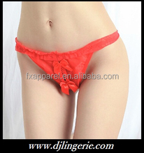 Red bowknot open crotch string G-string on sale