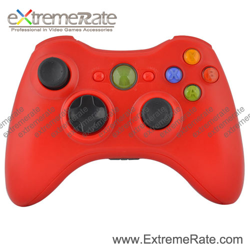 Matte Red Replacement Housing / Shell For XBOX 360 Wireless Controller With Full Button Kits Free Screwdriver