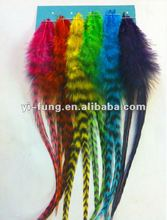 Loose Real Rooster Feather Hair Extensions