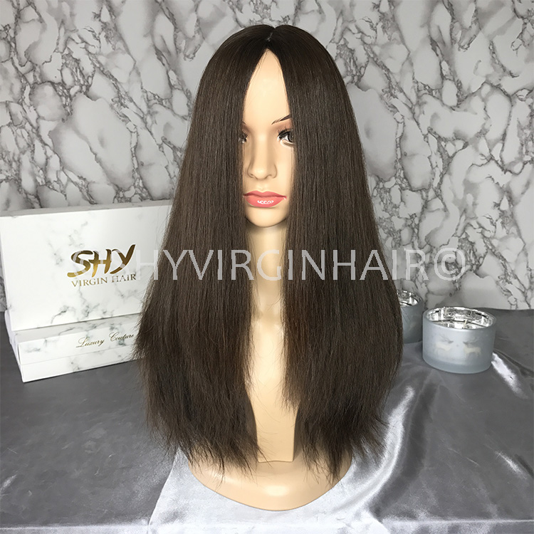 Good Quality 180% Density #2 Color Wholesale European Jewish Wig Kosher Wigs