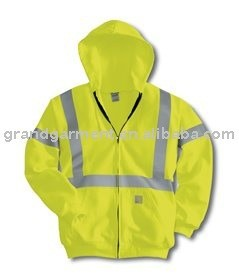 Safety Workwear Winter padded Coats with Reflective Tapes high quality safety Parka
