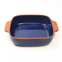 Wholesale Ceramic cooking pots with Double Handle Terracotta Tableware