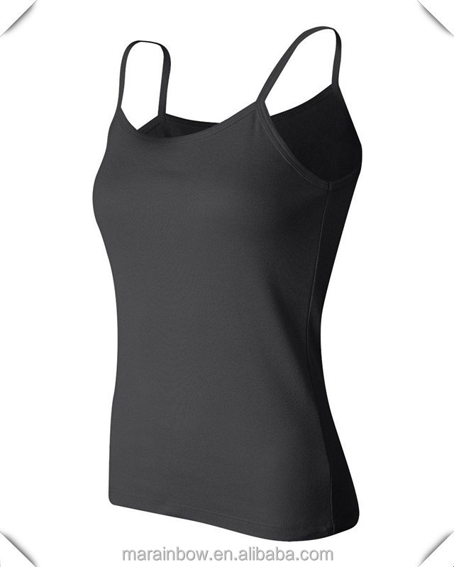 Women's Rib Spaghetti Strap Tank Top Ladies' Slim Fit 100% Cotton Plain Singlets Womans Fitted Tank Tops