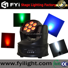 FYI led mini quad 7 10w RGBW 4 in 1 beam wash moving head lights
