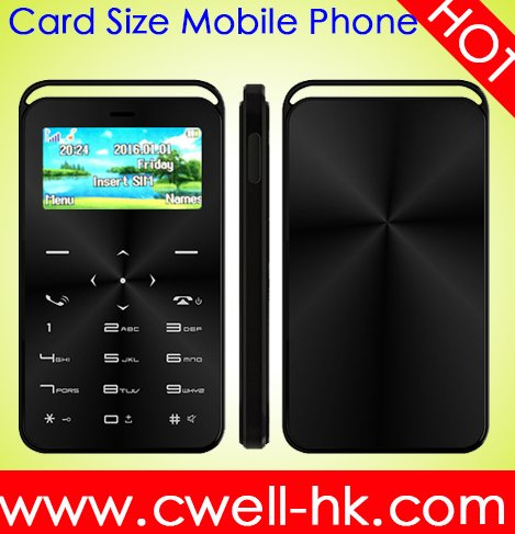Card Size Mobile Phone 1.69 Inch Single Sim Card with Magic Voice and Bluetooth Dialer Functions DAXIAN GS6 mini cell phone