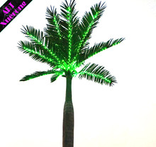 Promotion high simulation artificial huge white or colorful LED lighted coco palm tree for decoration