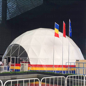 Romania used white PVC expandable mobile carnival car show geo dome tent from Guangzhou supplier