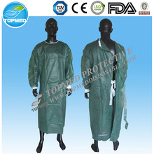 Disposable non woven impervious surgical drapes and gowns with elastic cuffs surgical isolation gown