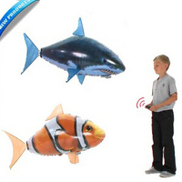 Remote control flying fish toys shark electric rc fishing plastic Inflatable blimp animal balloon airplane Valentine's Day Gift