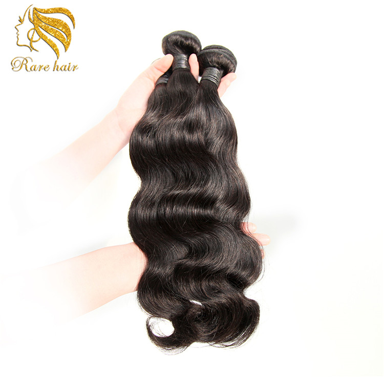 Long Lasting 100% Virgin Machine Weft Virgin Hair Pieces For Top Of Head
