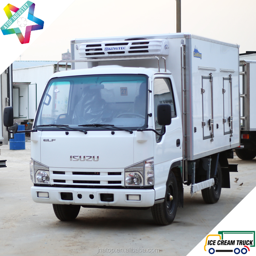 ColdKing double temperature adjustable partition wall refrigerated truck body ice cream yogurt small refrigerated trucks