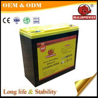 Hot 12v 18ah rechargeable electronic storage battery for four wheel electric scooter