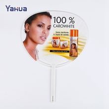Cheap Durable Advertising PP Printing Hand Fan Plastic