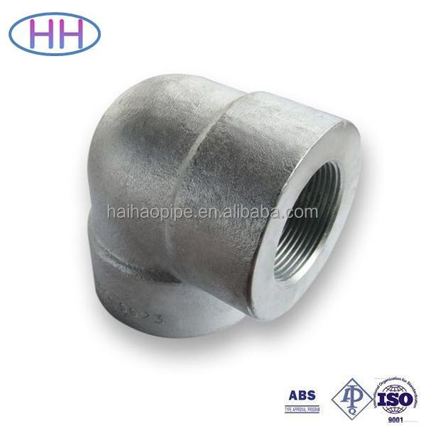 TP316L Forged Stainless Steel npt threaded elbow with competitive price