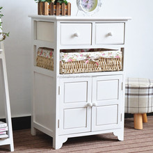 French Shabby Chic Rustic Wooden Cabinet Furniture