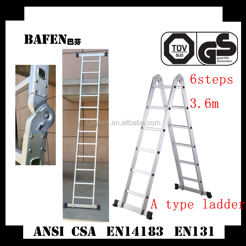 A type aluminum extension ladder with CE certificate