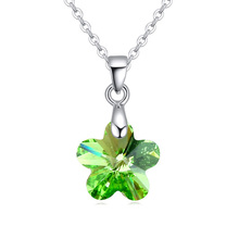 top quality flower design fashion jewelries made with Swarovski elements crystal